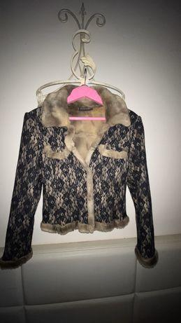 Курточка с кружева и меха