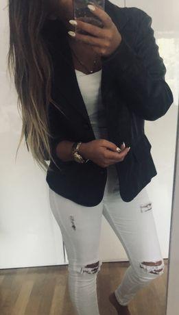Skórzana kurtka brązowa czekoladowa Monnari XL