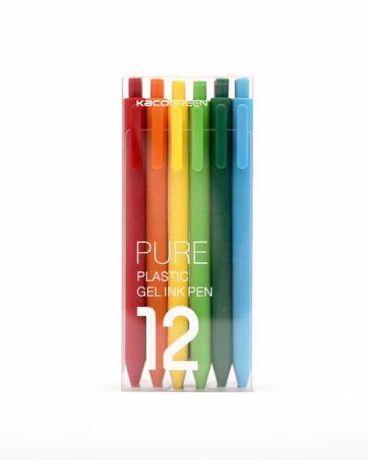 Цветные ручки Xiaomi Mi Kaco Pure Plastic Gel Pen набор 12 шт