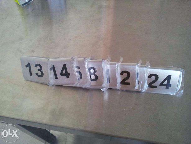 Tabliczki do numeracji stolików sprzedam