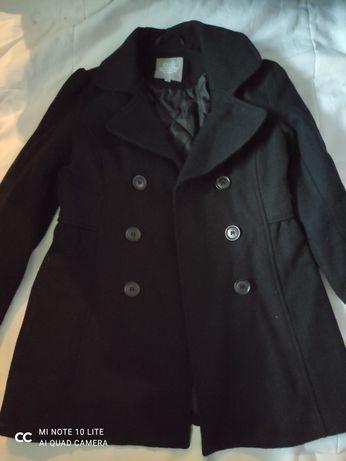 Płaszcz  płaszczyk czarny Zara 140 Lindex
