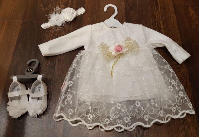 Sukienka do chrztu + dodatki
