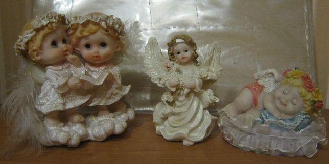 3 керамических ангелочка