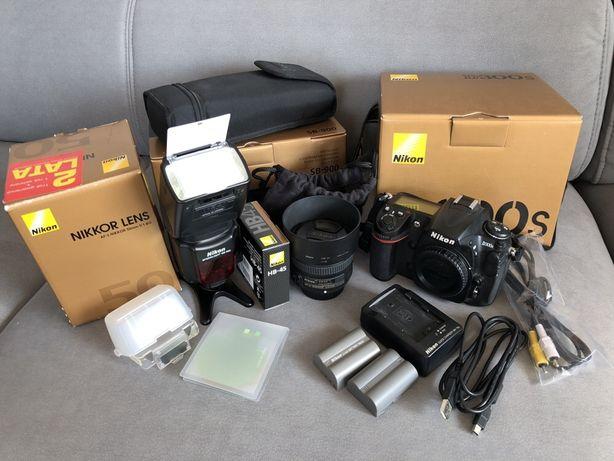 Nikon d300s, nikkor af-s 50mm, lampa sb-900 zestaw