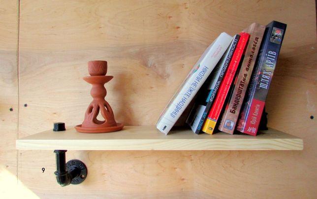 деревяна полиця лофт деревяная полка лофт