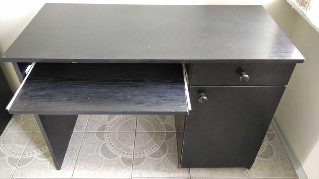 Biurko czarne 110x50x76 cm.
