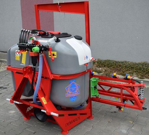 Opryskiwacz 300 litrów lanca 10m CYKLON szary opryskiwacze zawieszany
