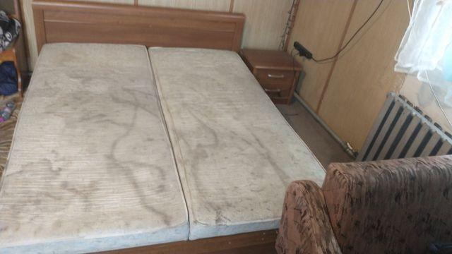 Łóżko małżeńskie 160x200 z pojemnikiem na pościel + 2 szafki nocne