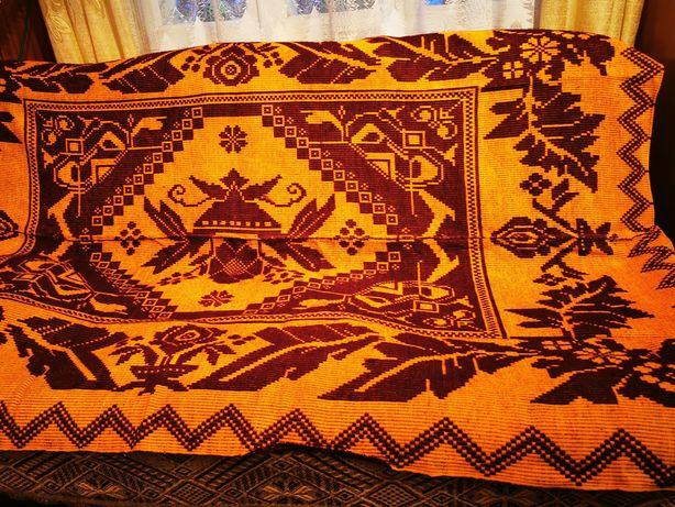 Narzuta kilim dywan wybierany PRL 190x130 cm rękodzieło wełna
