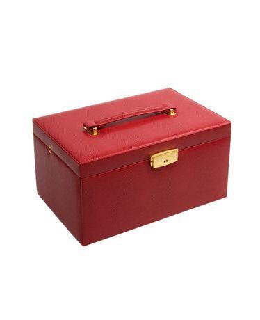 Kuferek na biżuterię w kolorze czerwonym