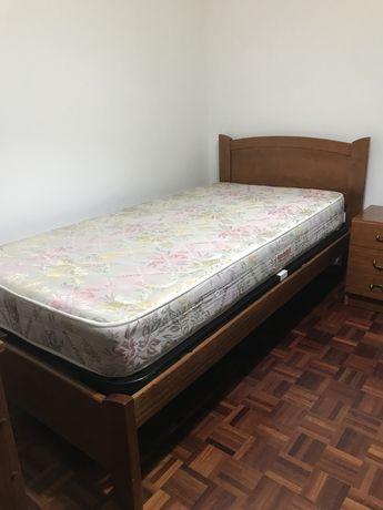 cama corpo e meio e colchão