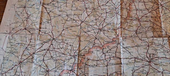 Mapa samochodowa Rzeczypospolitej Polskiej sprzed 1939 Bydgoszcz