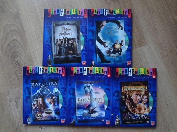 Bajki na DVD z serii Kino Familijne plus książki 5 części.