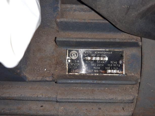 Электродвигатель крановый асинхронный MTF 111-6 3,5 кВт