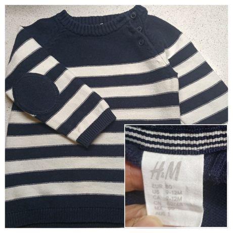 Стильный свитер H&M для мальчика рост 80-90