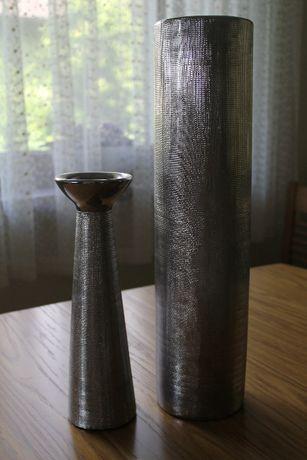 dekoracja: wazon i świecznik