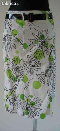 Spódnica spódniczka letnia kwiatki kropki kółka 38 - pas 74 cm