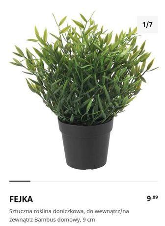 Sprzedam sztuczne rośliny,Fejka, bambus,Ikea,w st ideal+metal doniczki