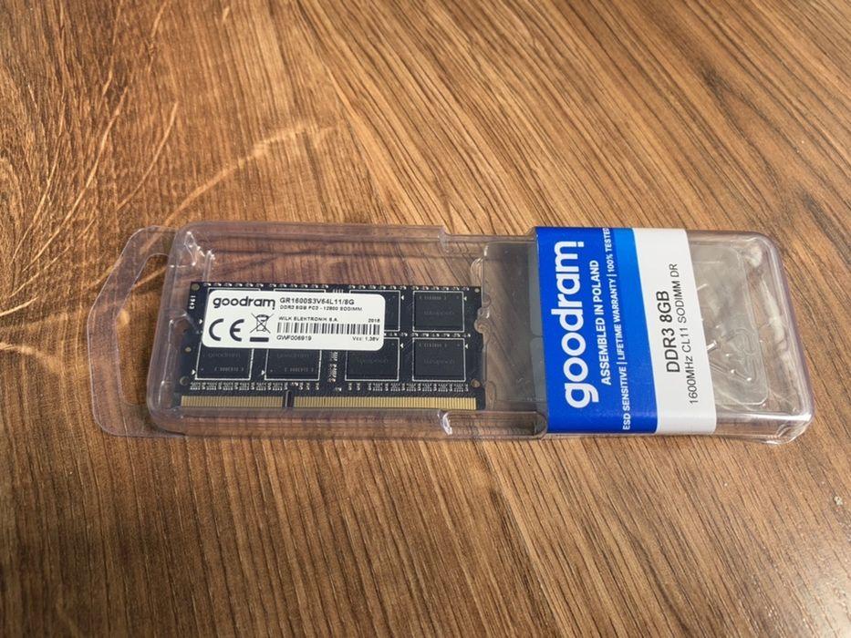 Pamięć RAM GoodRam DDR3 8 GB SO-DIMM 1600MHz Wodzisław Śląski - image 1
