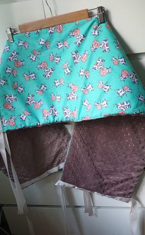 Ochraniacz Belle - Petite na łóżeczko o wymiarach 60×120 cm
