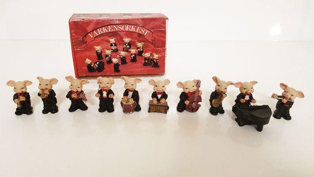 Figurki zabawki kolekcjonerskie orkiestra świnek