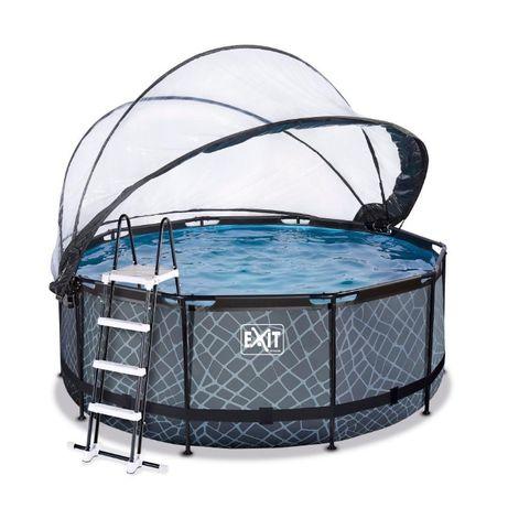 Каркасный бассейн с куполом Exit Stone 360x122 КАРТРИДЖНЫЙ ФИЛЬТР-НАСО