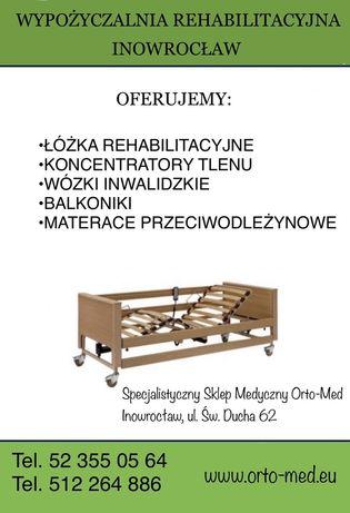 Łóżka rehabilitacyjne 100zł/m-c WYPOŻYCZALNIA