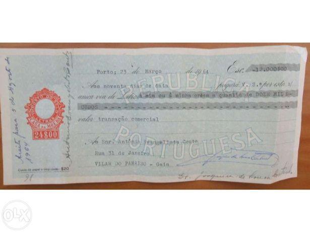 Letras e Cheques Antigos