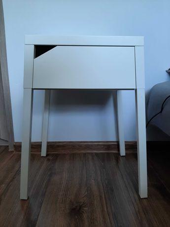 Szafka nocna IKEA Selje biała metalowa