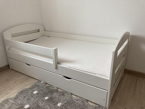 Łóżko dziecięce 80x160 drewniane na gwarancji z materacem