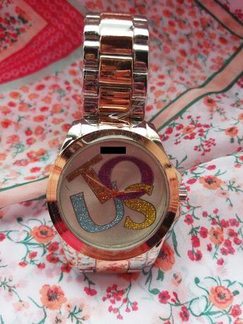 Relógio Rose Gold/Prateado Metal