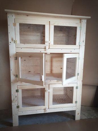 Klatka dla królika Drewniana Drewno Sosnowe Domek