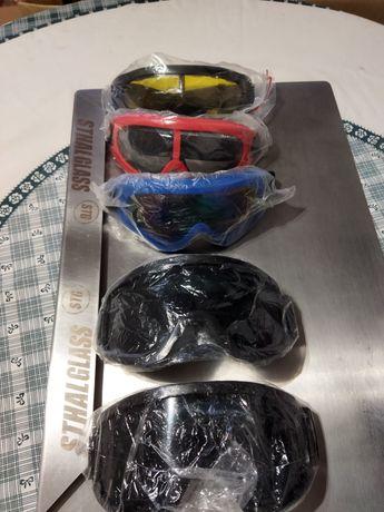 Óculos motocross Proteção Capacete mota, ski