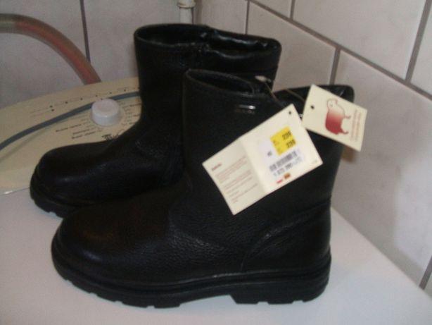 buty nowe ! trapery meskie skórzane 40 owcza wełna ! 26,5cm zimowe