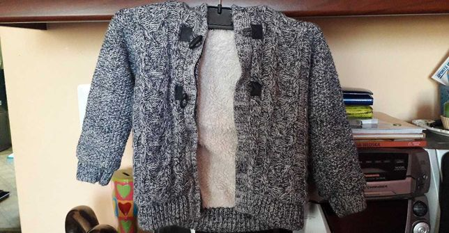 Bluza z kożuszkiem na zimę dla chłopca - 3 letniego