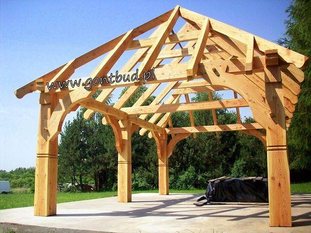 gontbud.pl Wiata drewniana altana garaż carport domek drewutnia gonty