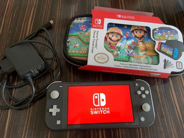 Nintendo Switch Lite + karta pamięci + ładowarka + pokrowiec
