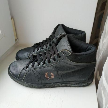Высокие кожаные деми кеды кроссовки Fred Perry 40р. 26.5 см