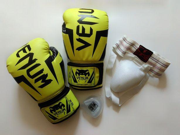 продам детские боксерские перчатки+ защита + капа