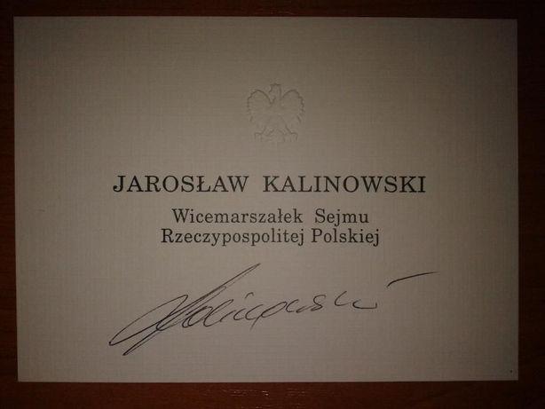 Autograf Jarosław Kalinowski