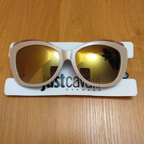 Just Cavalli oryginalne nowe okulary przeciwsłoneczne damskie koty