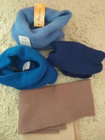 Вязаные хомуты и шарфики