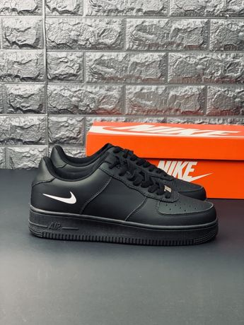 Кроссовки мужские Nike air force 1 low Black limited найк аир форс