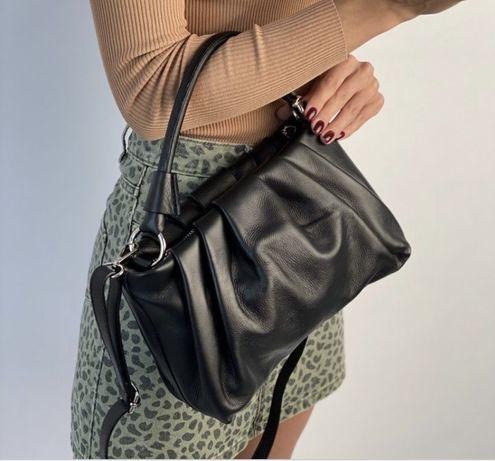 Мягкая кожаная сумка Итальянская сумка шкіряна сумка жіноча