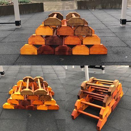 Напольные брусья, паралетсы, стойки для отжиманий, упоры деревянные