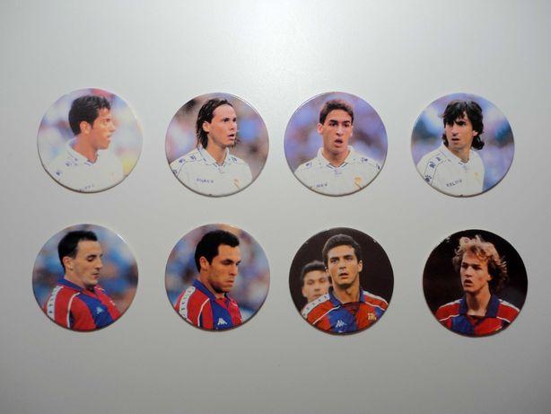 21 Tazos Caps Liga Espanhola 95-96 Panini - Portes Grátis