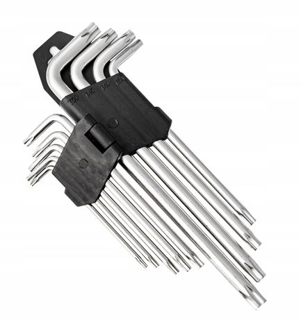 Klucze imbusowe torx długie T10 - T50 9el TYP L (BIT41)