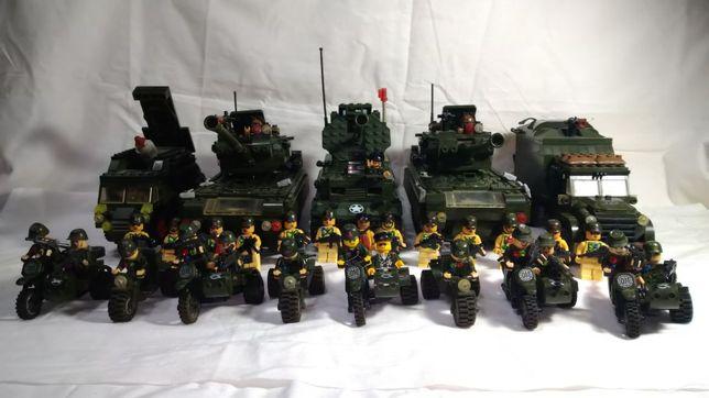 Конструктор армия аналог лего: танки, машины, мотоциклы + 31 человечек