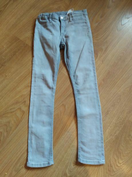 Rurki jeansy miękkie uciągliwe 128 h&m
