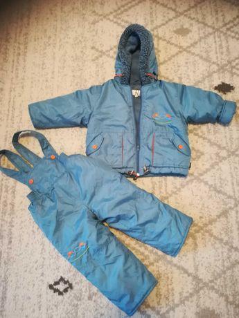 Komplet kurteczka i spodnie zimowe rozmiar 80 s. idealny